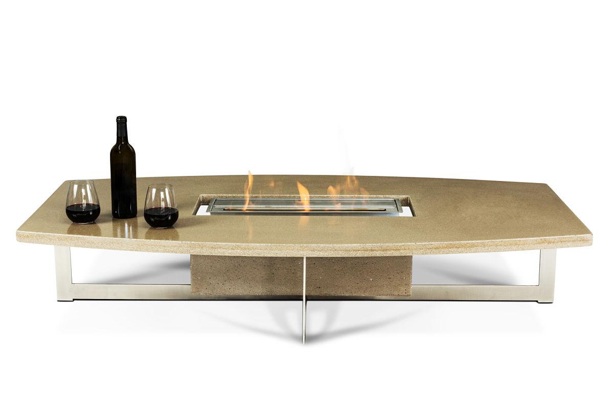 Concrete fire pit, concrete coffee table