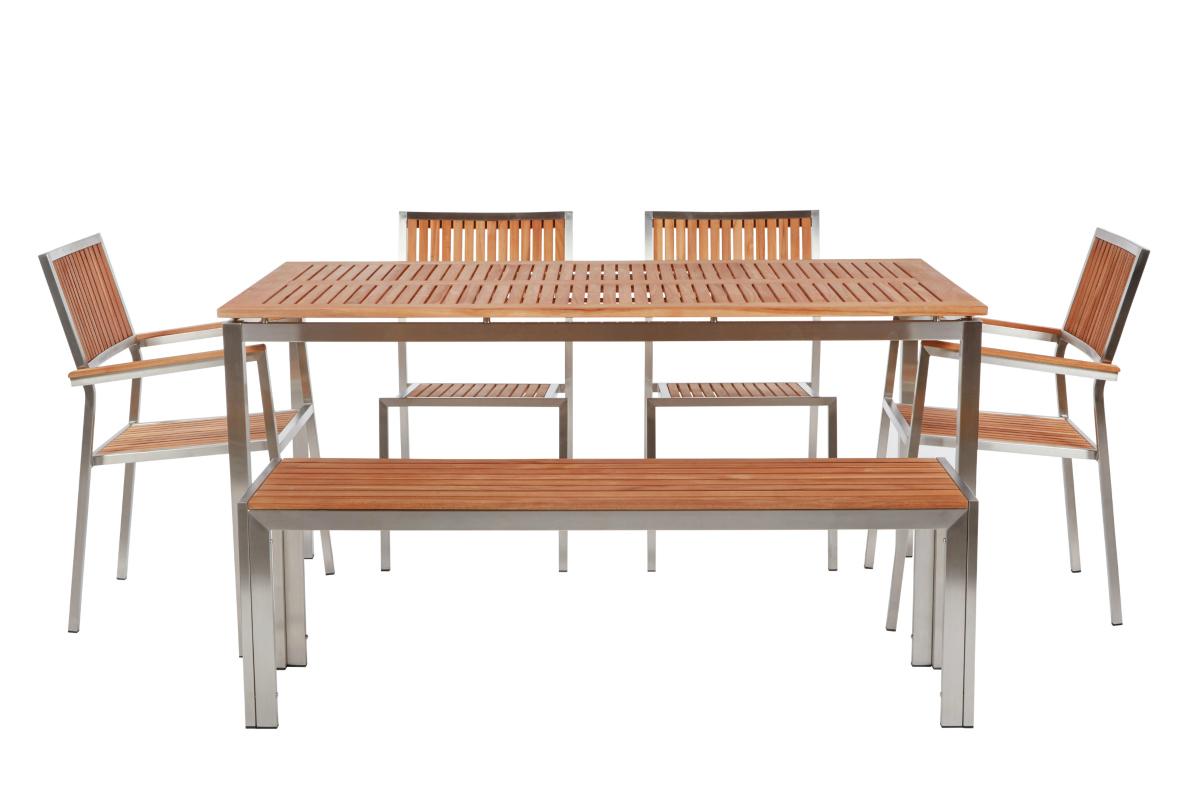 Teak Blend Concrete Studio Concrete Dining Table ADA Sinks - Concrete dining table and chairs