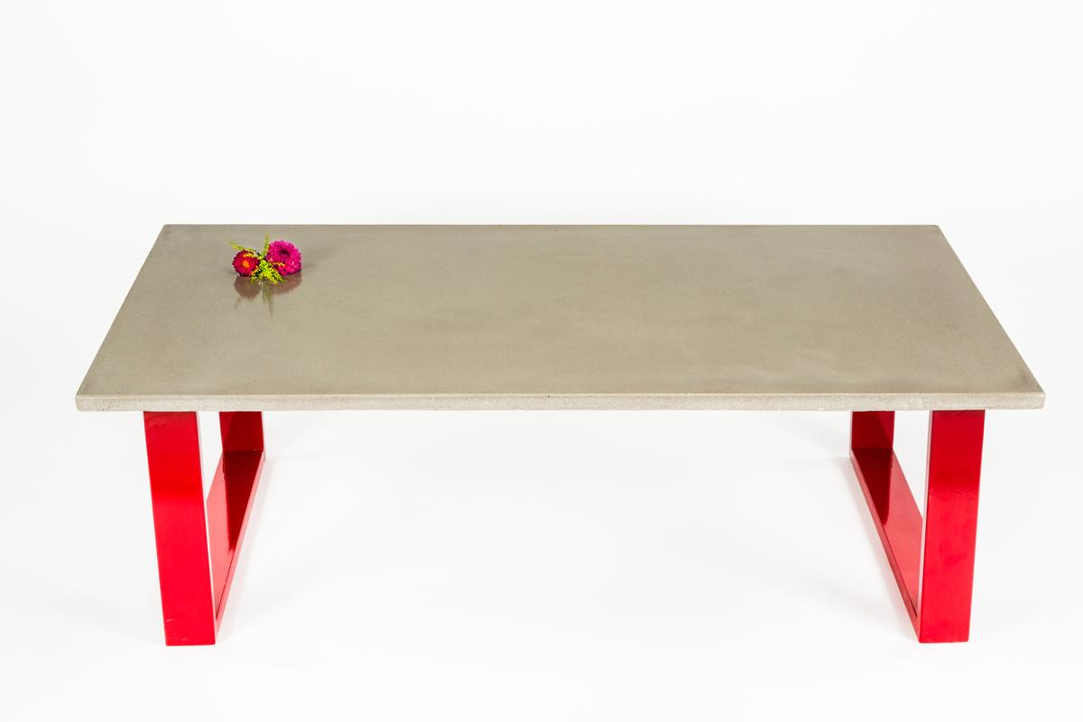 Concrete Coffee Table Quot Red Quot Blend Concrete Studio